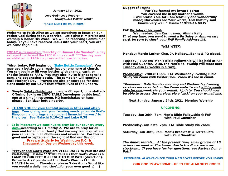 Bulletin Flyer January 17th 2021 for web