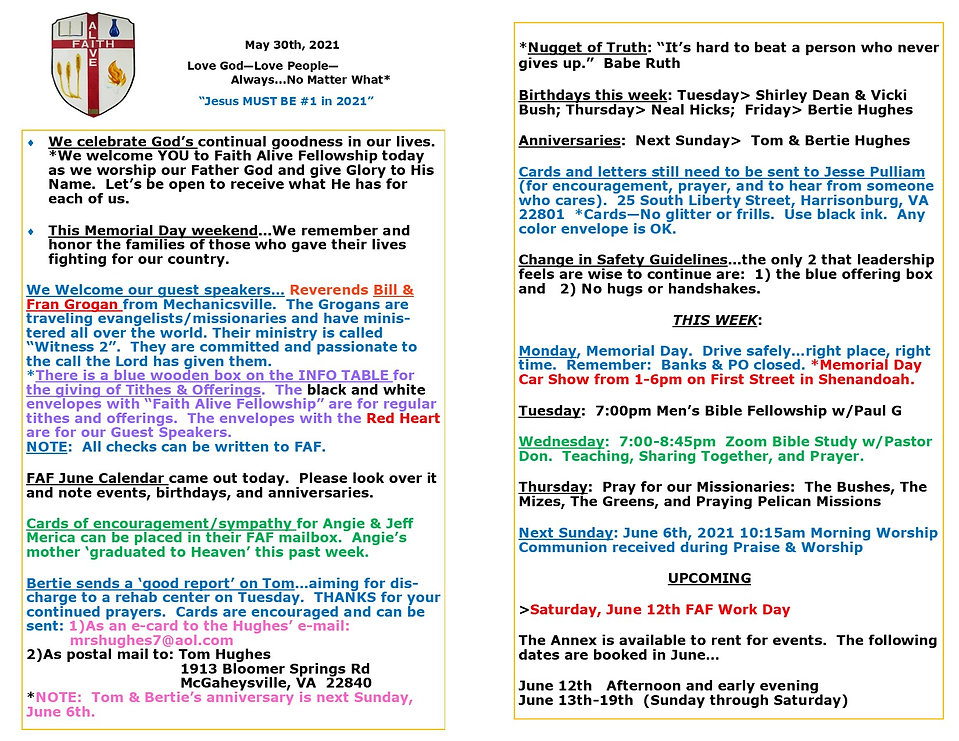 Bulletin Flyer May 30th 2021 for website