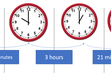 How long is it, in hours and minutes, between 09:34 and 13:21?