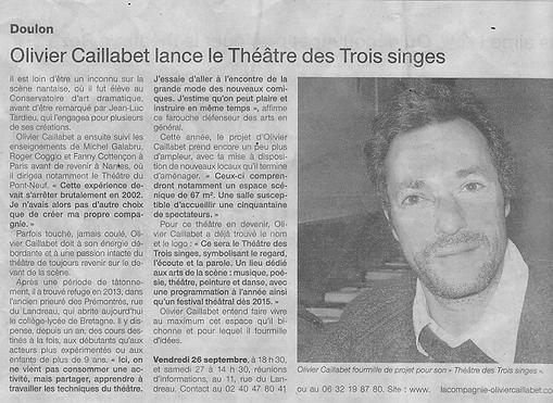 Olivier Caillabet -  Cours Théâtre Nantes
