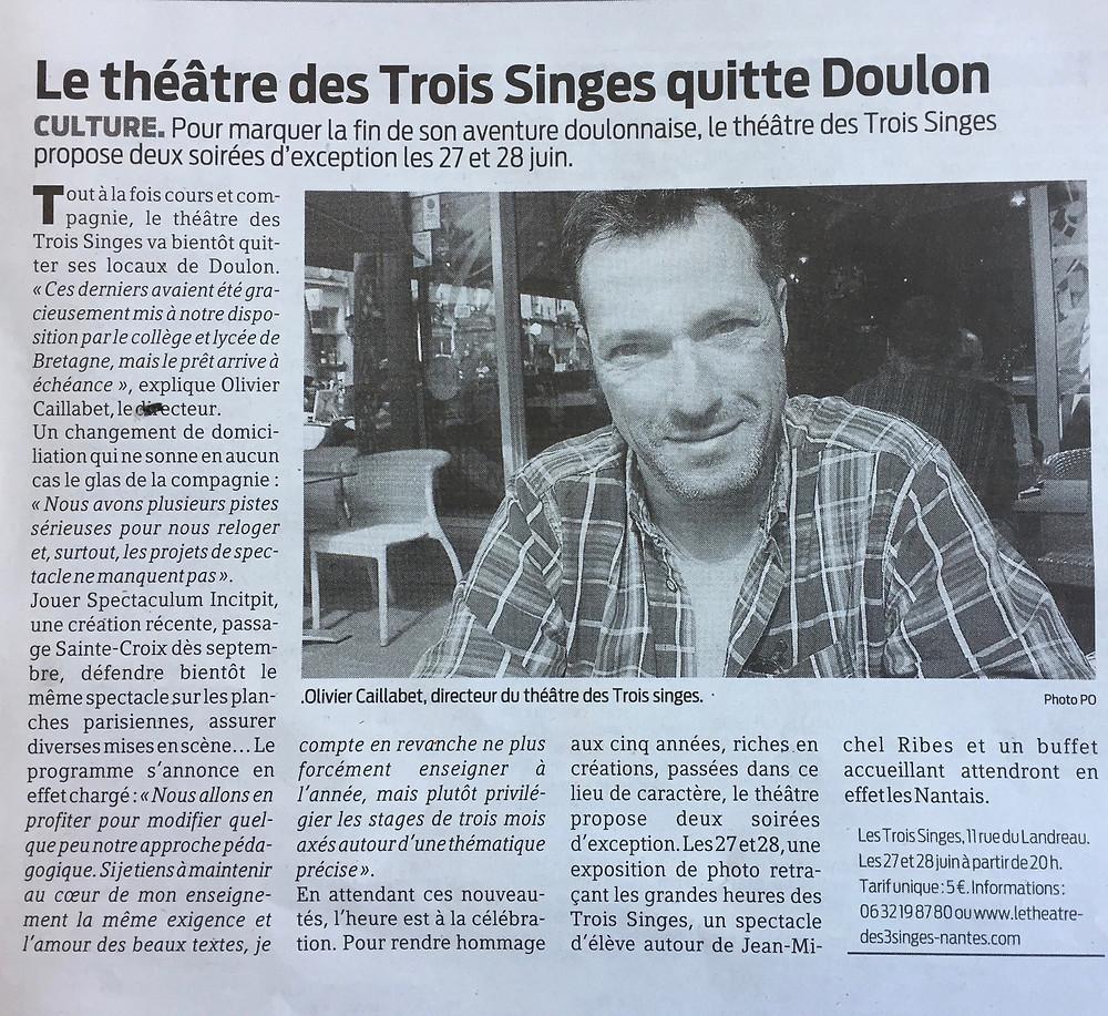 Olivier Caillabet - Théâtre des 3 Singes