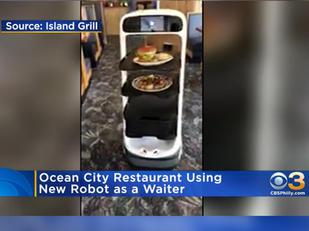 Ocean City Restaurant Using New Robot As Waiter