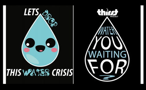Walk for Water T-Shirts are $12 each.