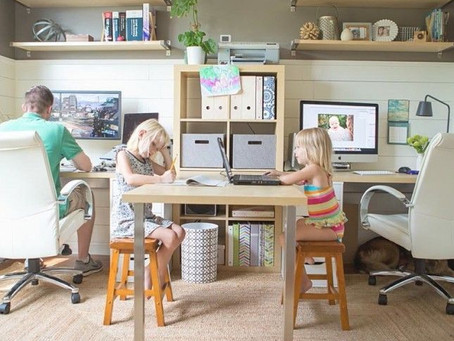 Home office com filhos em casa: o desafio de manter a produtividade