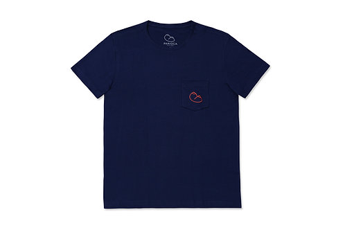 TOPLESS T-SHIRT / DARK BLUE
