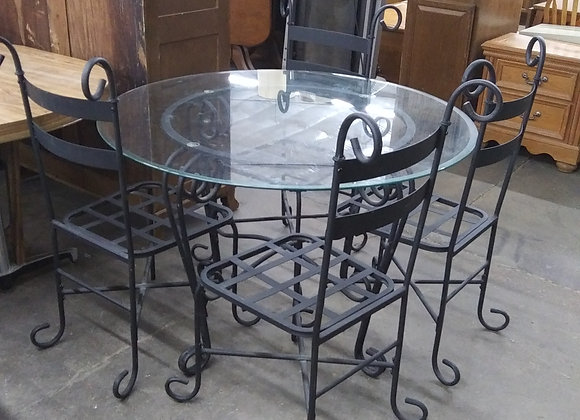 Baraboo - Glass top table with 4 chairs