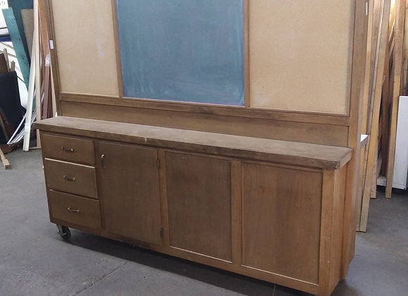 Baraboo - School Cabinet with chalkboard (2 sided)