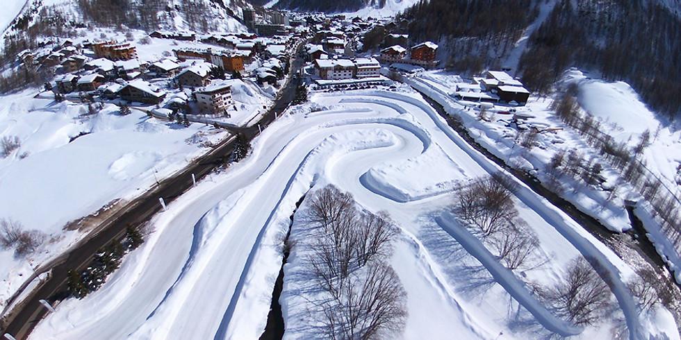 Val d'Isère Lundi 11/02 Circuit glace Roulage en open