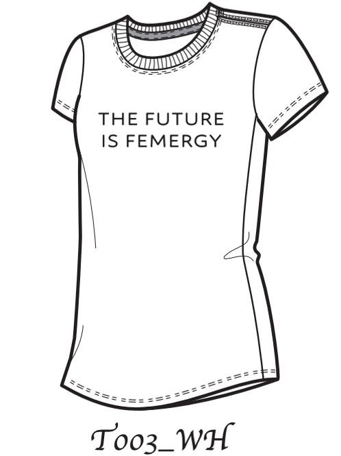 The Future is Femergy (White)