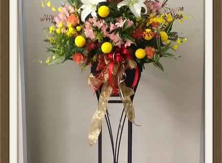 展示会用スタンド装飾花