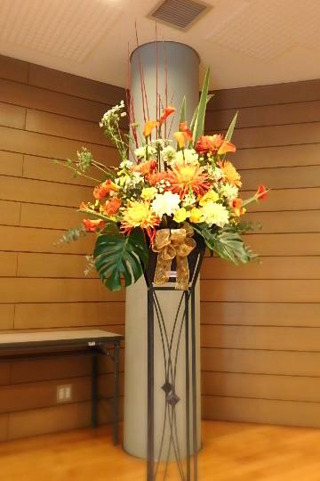 文化祭のステージ装飾花