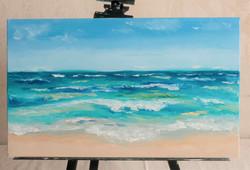 Ocean waves seascape painting