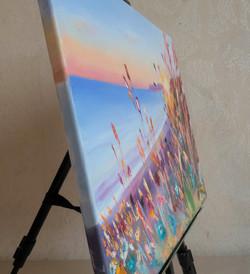 Sunlight Seascape oil painting