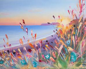 Sunlight Wildflower oil painting