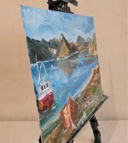 Ship ocean seascape oil painting