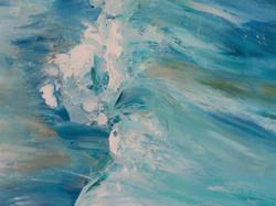 Ocean wave seascape oil painting detail