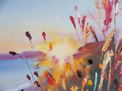 Sunlight Seascape oil painting detail