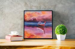 Ship seascape oil painting