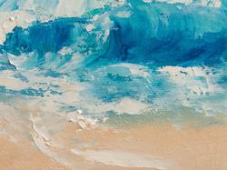 Ocean Waves oil painting detail