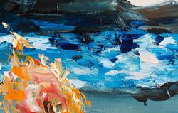 Seascape ocean impasto painting detail
