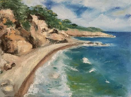 Ocean landscape painting
