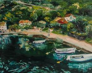 Italy seascape impasto painting