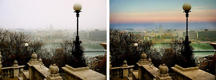 A view over the Danube from Buda Castle