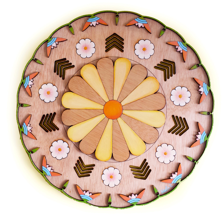 Archaic Floral Mandala, 2015