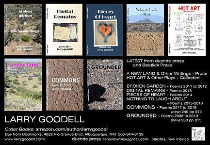 Larry Goodell Recent Books October 2020.