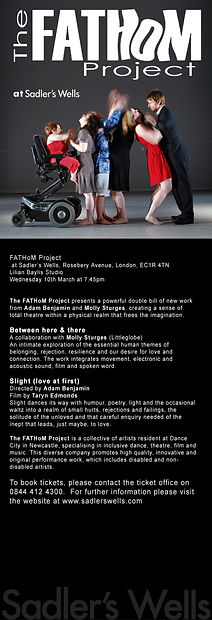 Poster for Fathom Project, Sadlers Wells