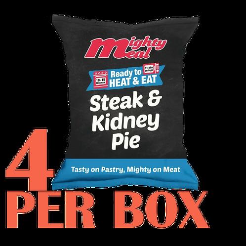 x4 Pre-Baked Steak & Kidney Pies