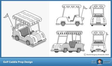 Golf Caddie Prop Design