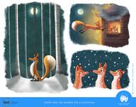 Super Fred The Wonder Fox Illustrations