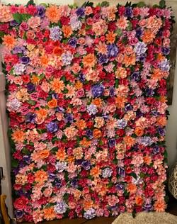 Hand-Made Modular Flower Wall