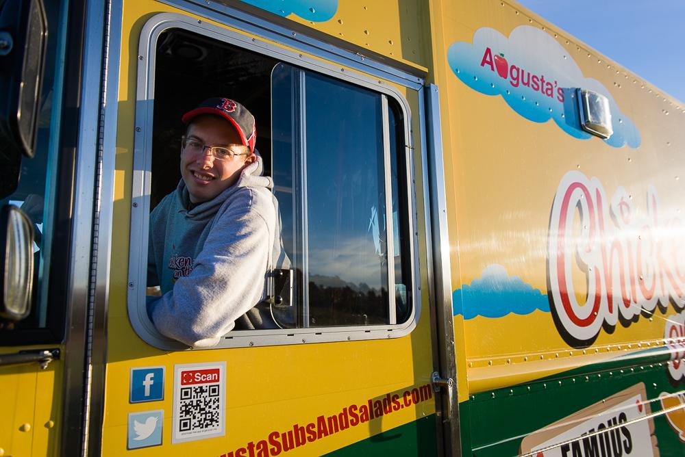 Chris Driving rotating truck menu