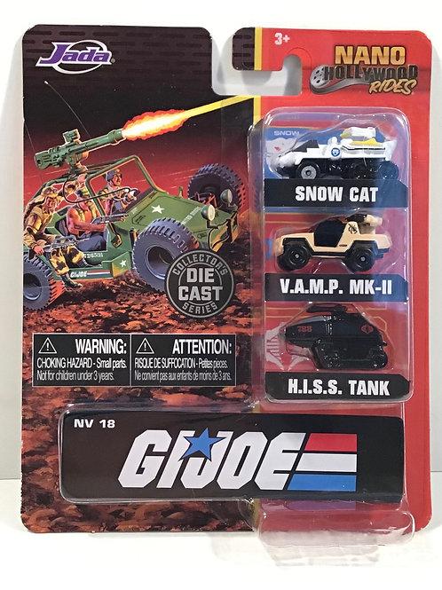 G.I. Joe Nano Hollywood Rides Vehicle 3-Pack Diecast Micro Cars Jada Toys