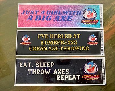 Lumberjaxs bumper stickers, tamworth, axe throwing, car_edited.jpg