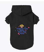 Pet hoodie, axe throwing, fun pet wear,