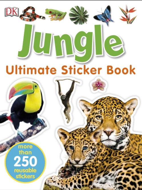 Ultimate Sticker Book: Jungle (AGE 5+)
