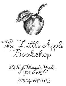 The Little Apple Bookshop logo and address