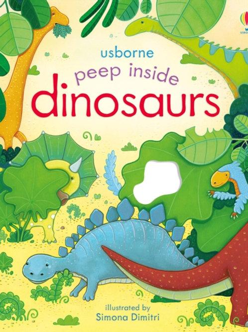 Anna Milbourne - Peep Inside Dinosaurs (AGE 3+) (HARDBACK)