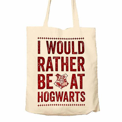 Harry Potter I'd Rather Be At Hogwarts Tote Bag