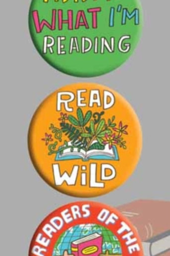 Ask Me What I'm Reading 3 Badge Set