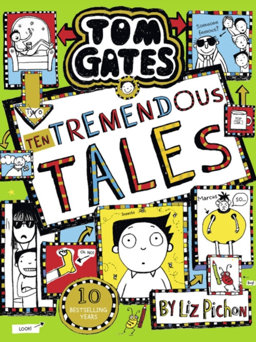 Liz Pichon - Tom Gates:10 Tremendous Tales(SIGNED BOOKPLATE) (AGE 9+) (HB)(18th)