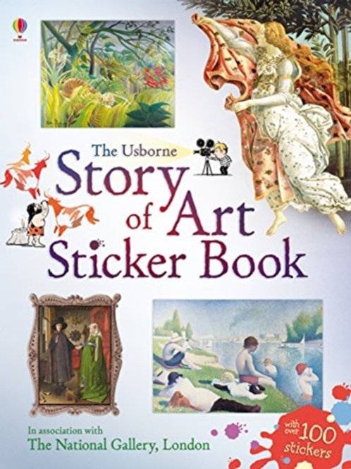 Sarah Courtauld - Story Of Art Sticker Book (AGE 6+)