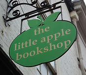 The Little Apple Bookshop shop sign on High Petergate