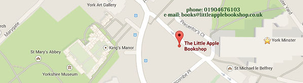 Map of York showing The Little Apple Bookshop