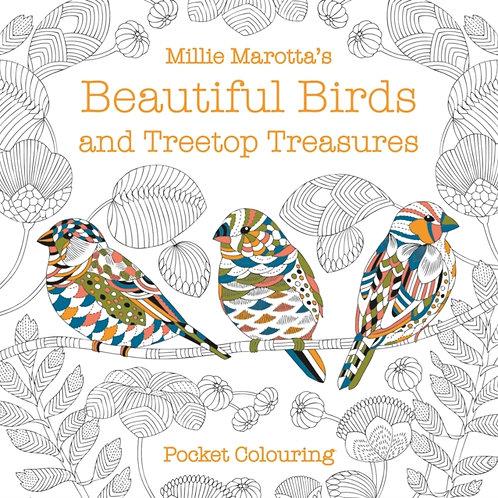 Millie Marotta - Beautiful Birds And Treetop Treasures Pocket Colouring