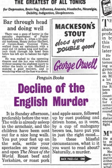 George Orwell - Decline Of The English Murder