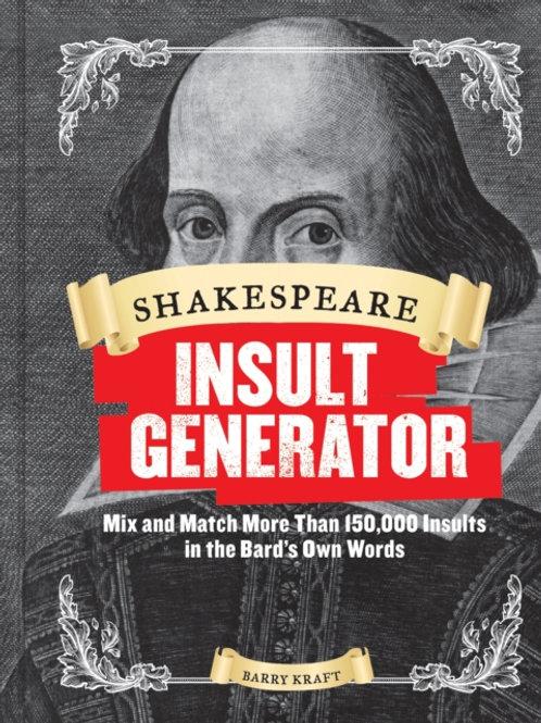 Barry Kraft - Shakespeare Insult Generator (HARDBACK)